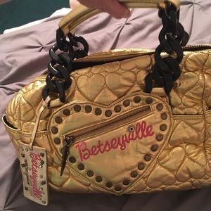 Betsy Johnson Gold Handbag